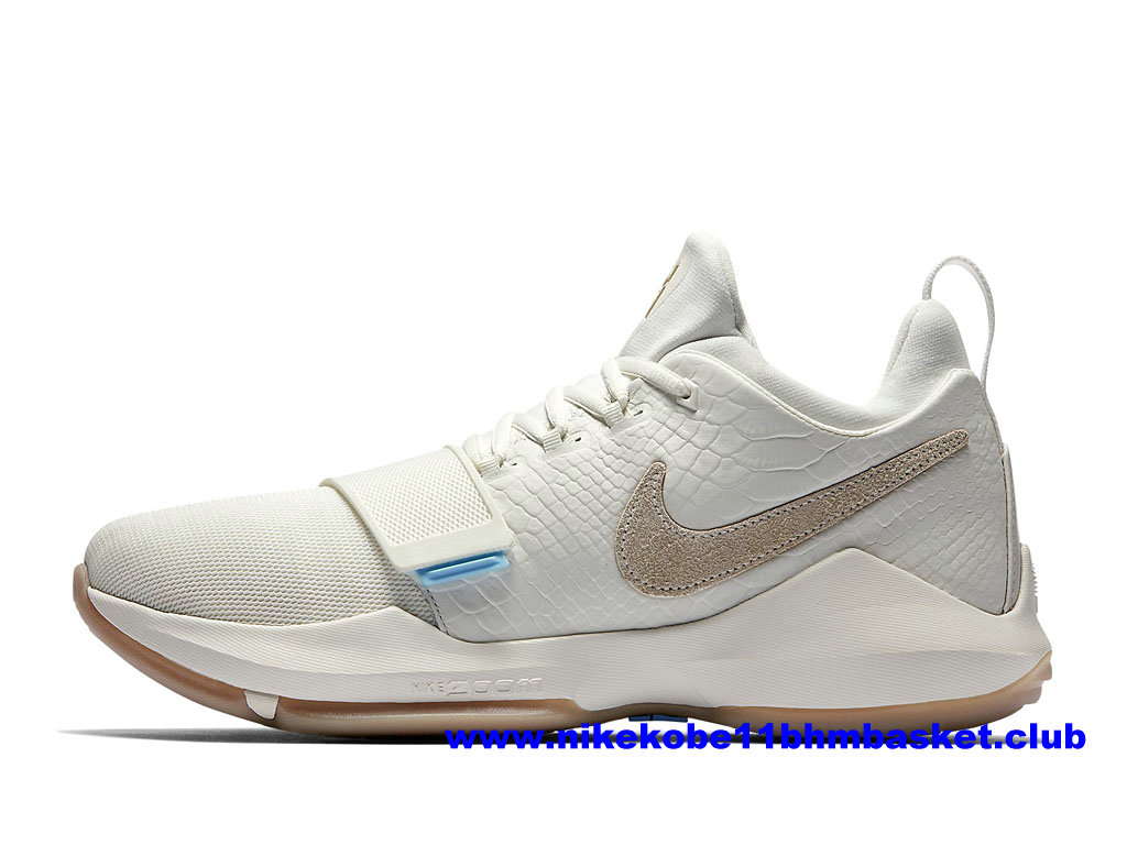 Chaussures Basket Homme Nike PG 1 Ivory Prix Pas Cher Beige/Blanc 878627_110