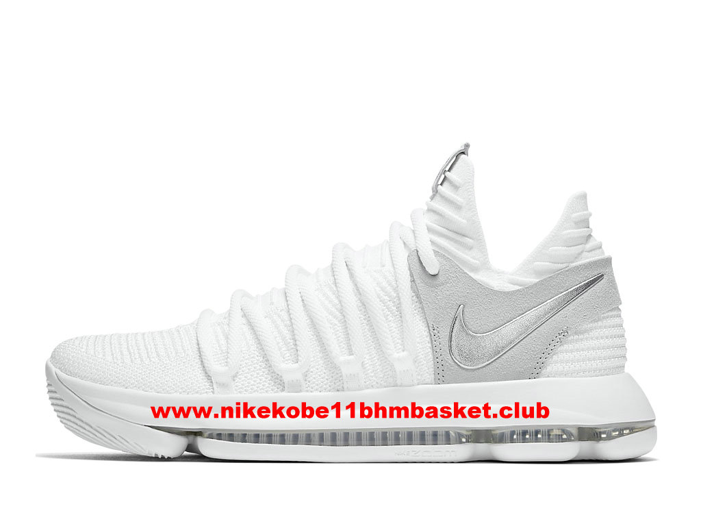 8c5c0afe39a Shoes BasketBall Nike KD 10 Still KD Men´s Price Cheap White Grey 897815 100