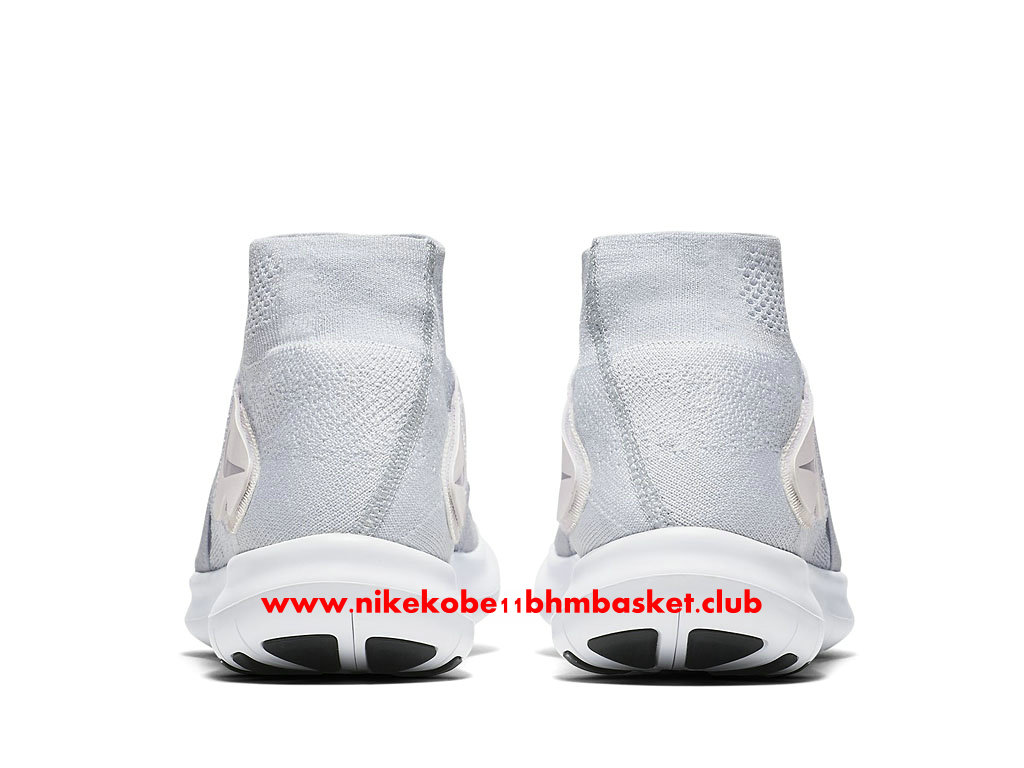 Chaussures De Running Nike Free RN Motion Flyknit 2017 Prix Pas Cher Pour Homme Blanc 880845_100