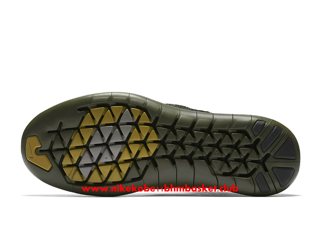 Chaussures De Running Nike Free RN Motion Flyknit 2017 Prix Pas Cher Pour Homme Olive Green Black 883291_001