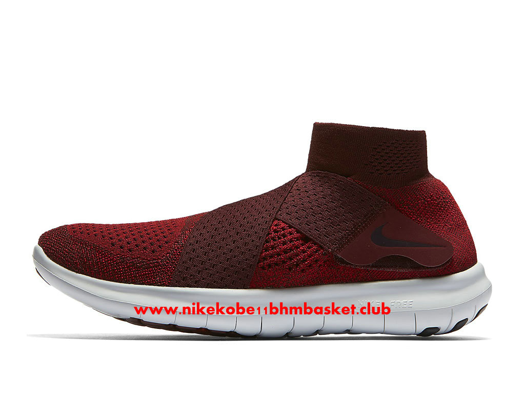 Chaussures De Running Nike Free RN Motion Flyknit 2017 Prix Pas Cher Pour Homme Rouge/Blanc 880845_601