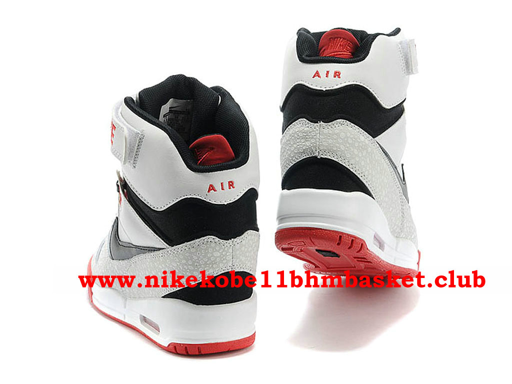 huge inventory best place buying new nike air sky hi blanc rouge noir pas cher