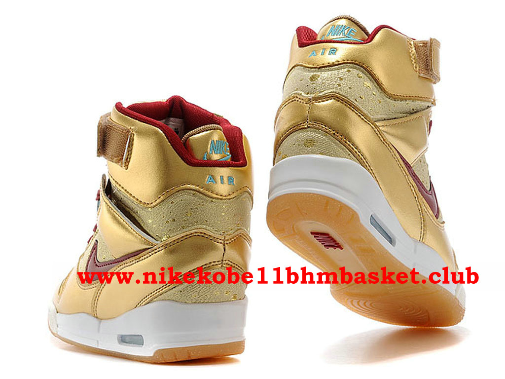 Chaussures Femme Nike Air Revolution Sky Hi Pas Cher Prix Or/ROuge 649460-700