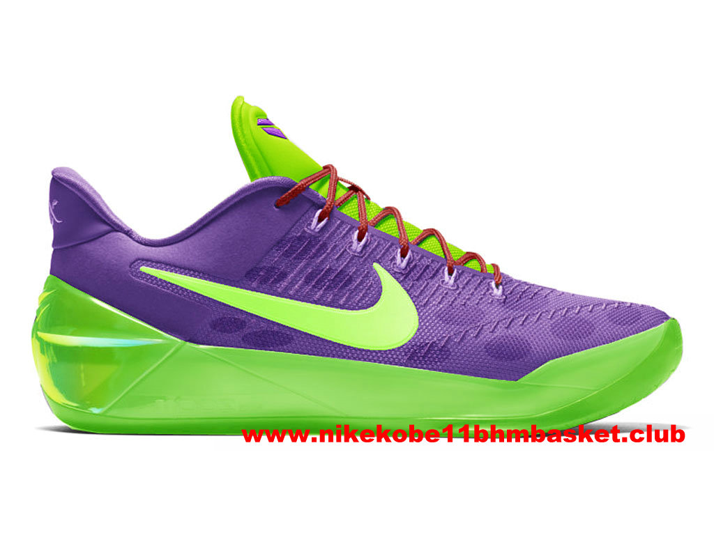Chaussures Nike Kobe A.D. Cheetah Prix BasketBall Pas Cher Pour Homme Pourpre/Vert 852425_A500