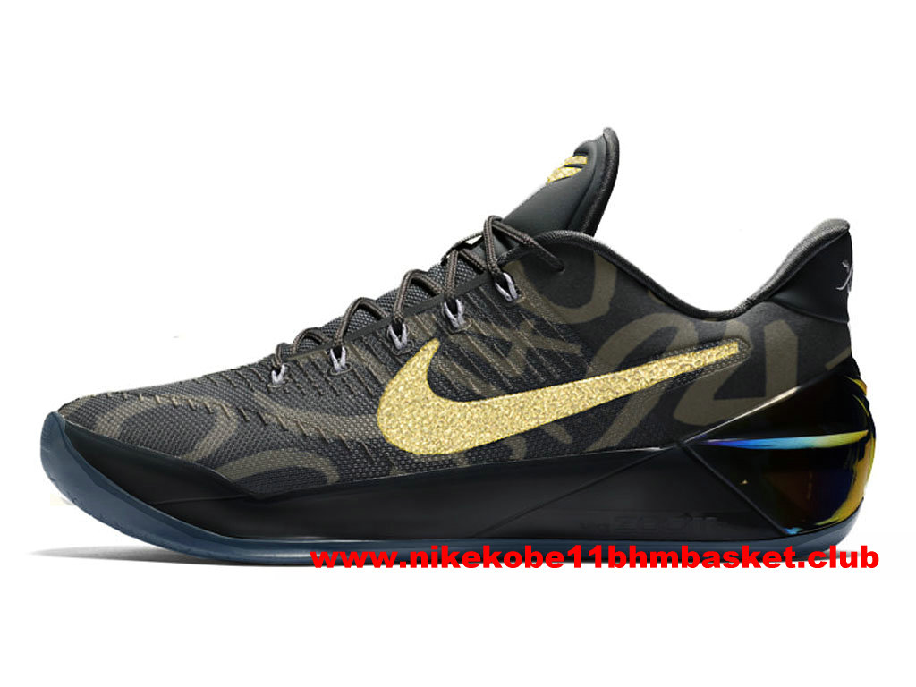 Chaussures Nike Kobe A.D. Mamba Day Prix BasketBall Pas Cher Pour Homme Noir/Or 852425_A800