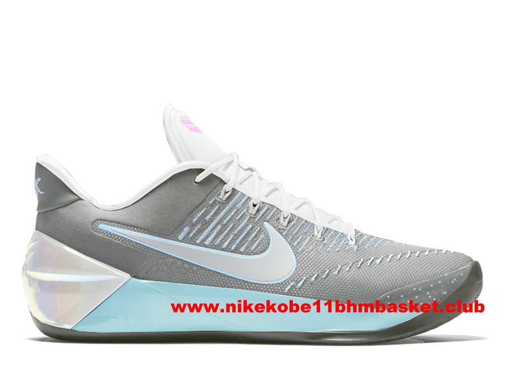 Chaussures Nike Kobe A.D. Mcfly Prix BasketBall Pas Cher Pour Homme Gris/Blanc 852425_A111