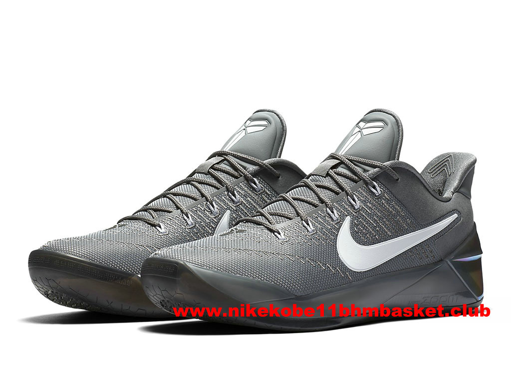 Chaussures Nike Kobe A.D. Prix BasketBall Pas Cher Pour Homme Cool Grey/White 852425_010