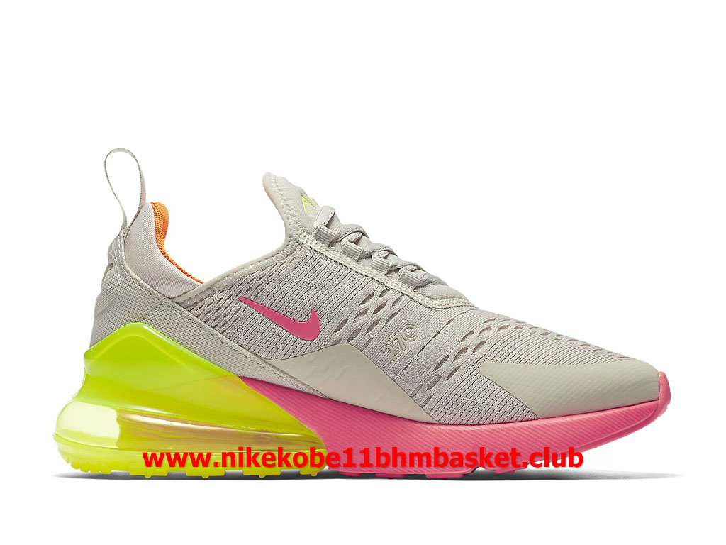 Nike Air Max 270 Femme Chaussures Prix Pas Cher Beige White/Rose/Jaune AH6789_005