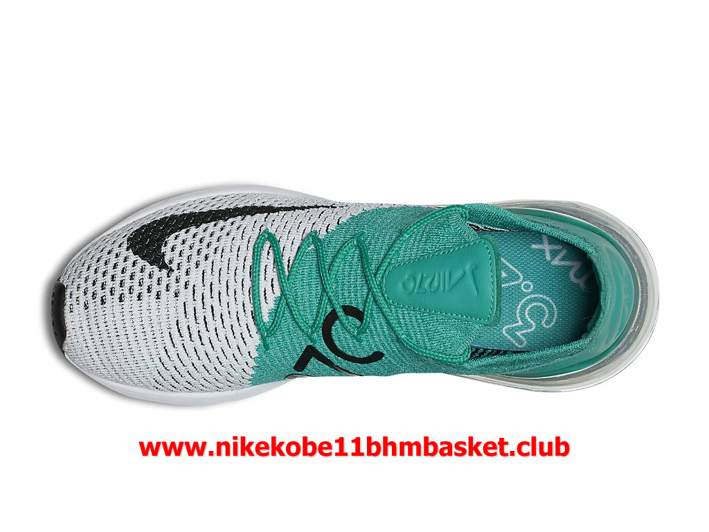 online store 5e020 4e825 ... Nike Air Max 270 Flyknit Casual Femme Chaussures Prix Pas Cher Vert Gris  Blanc ...