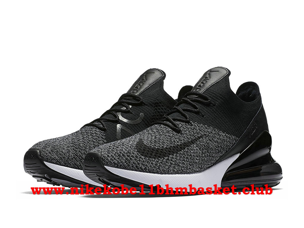 Nike Air Max 270 Flyknit Casual Homme Prix Pas Cher Noir/Blanc/Gris AO1023_001