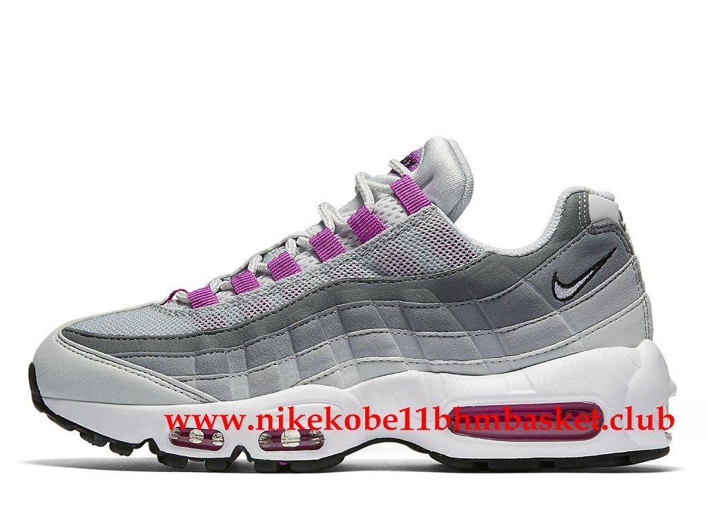 nike air max 95 femme pas cher prix gris blanc rose 307960. Black Bedroom Furniture Sets. Home Design Ideas