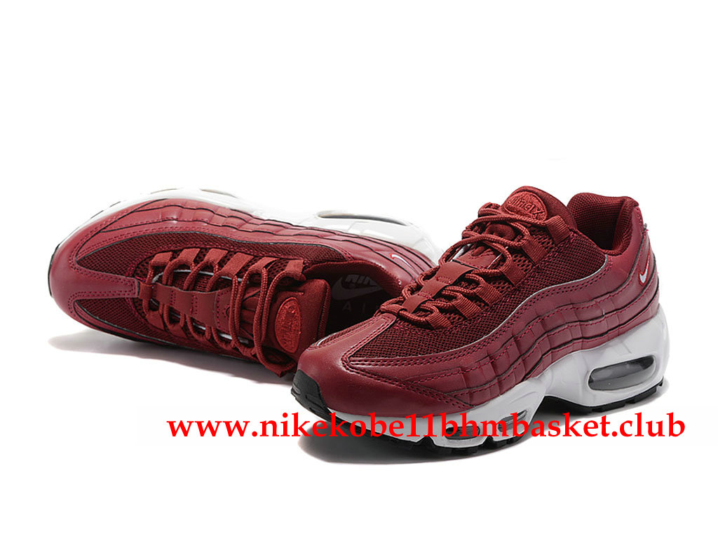 Nike Air Max 95 ID Femme Femme Pas Cher Prix Rouge Blanc 307960_ID008