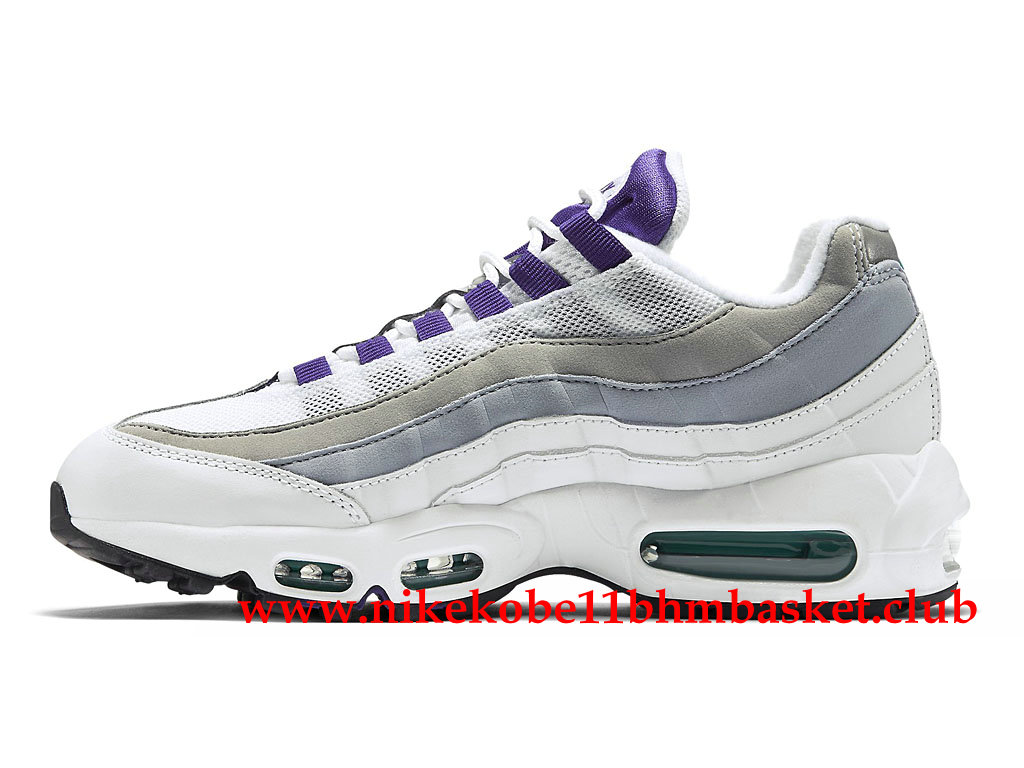 new styles 817f0 e4af4 ... Nike Air Max 95 Women´s Cheap Price Grey White Purple ...
