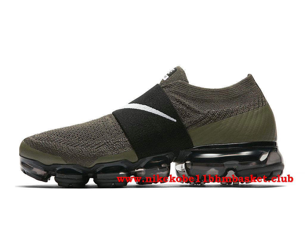 Nike Air Vapormax Flyknit MOC Femmes Pas Cher Prix Olive Green/Black AA4155_300