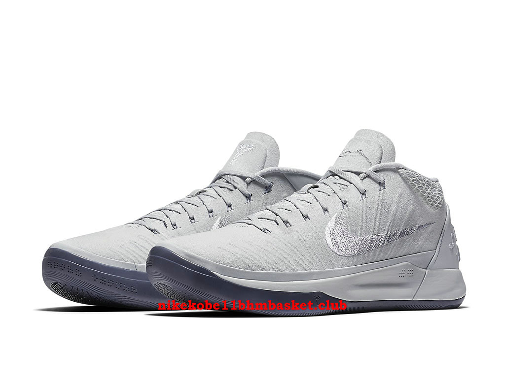 buy popular dd90c 3b86e ... czech nike kobe a.d. mid mens cheap price silver white grey 922484004  0557a 85a7d