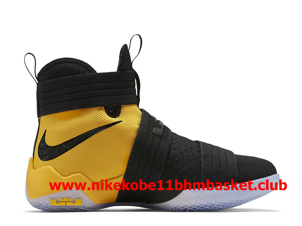 competitive price 47f0d 36fc0 ... Nike LeBron Soldier 10 Men´s Cheap Price Black Yellow 852419 007 ...
