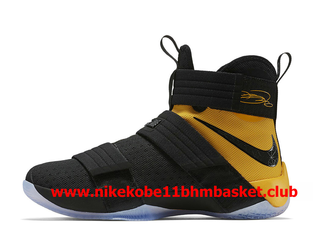 b32fbb4dd7ef Nike LeBron Soldier 10 Men´s Cheap Price Black Yellow 852419 007 ...