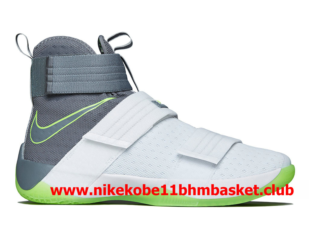 d83558d1683b Nike Zoom LeBron Soldier 10 Men´s Cheap Price White Grey Green ...